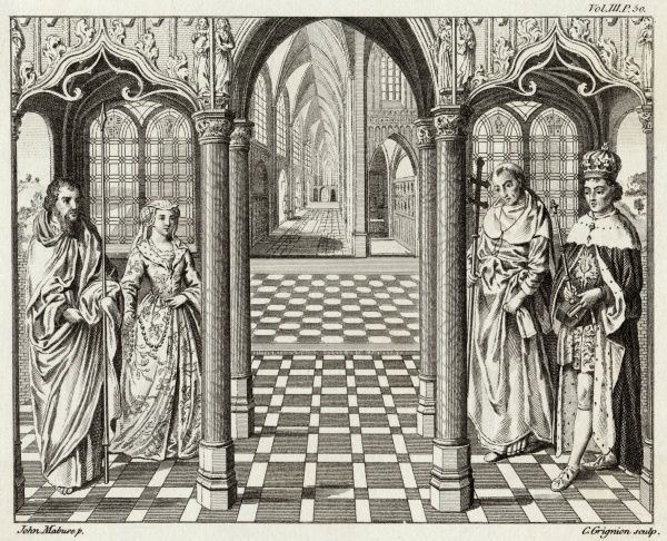 The marriage of Henry VII to Elizabeth of York