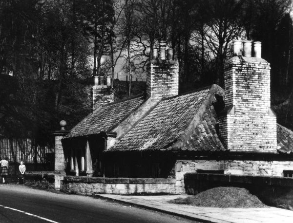 The Marriage House, Coldstream Bridgehead, Berwickshire, Scotland, where up to a hundred years ago 'Blacksmith Weddings' took place; the smithy was the priest! Date: 1950s