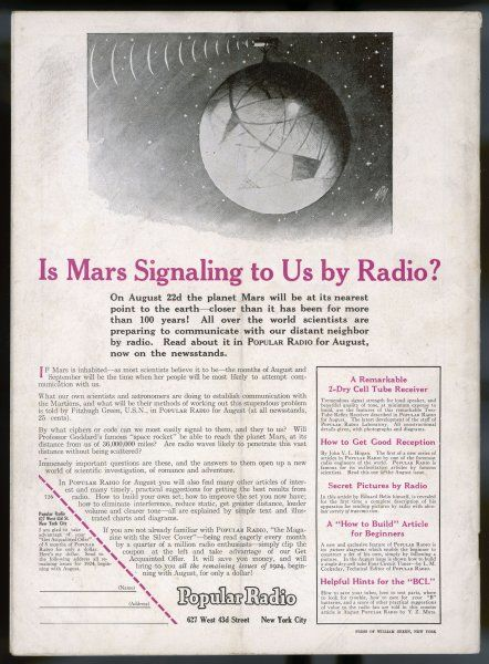 IS MARS SIGNALLING TO US ?