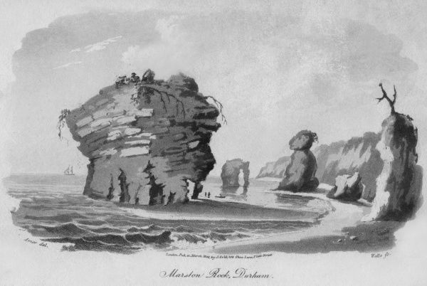 Marston Rock, on the coast of County Durham Date: 1805