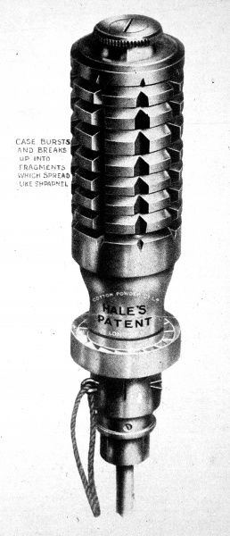 The Marten Hale hand grenade for hand or rifle