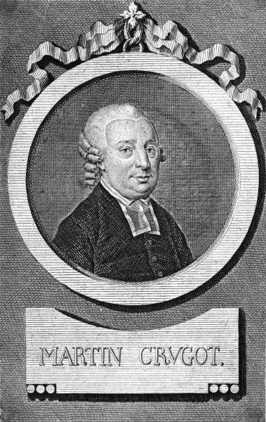 MARTIN CRUGOT German churchman and theologian Date: 1725 - 1790
