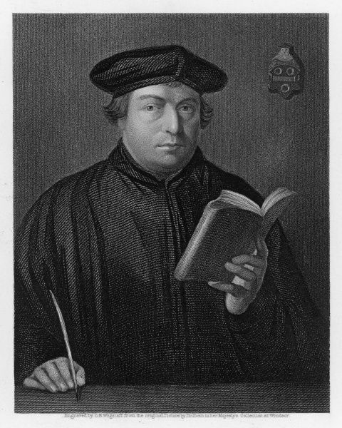 MARTIN LUTHER German religious reformer