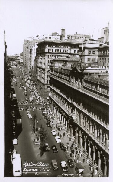 Martin Place - Sydney, New South Wales Date: circa 1940s