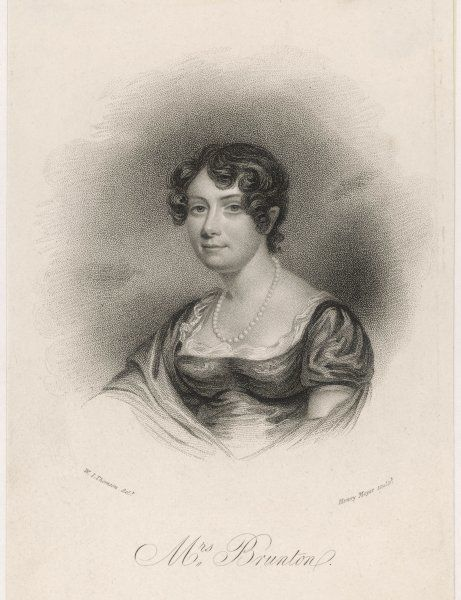 Mrs MARY BRUNTON The authoress of 'Self- Control', 'Discipline' and other works