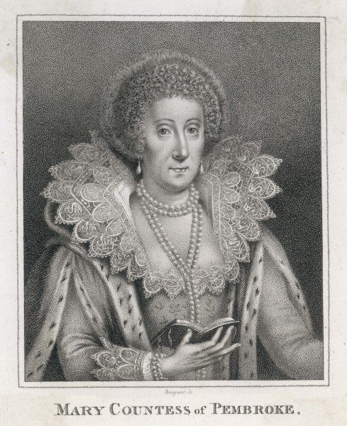 Mary Sidney, countess of PEMBROKE, wife of Henry Herbert, second earl writer and patron of the arts depicted in her old age