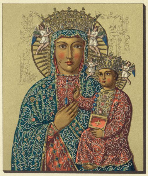 depicted as OUR LADY OF CZESTOCHOWA, Poland