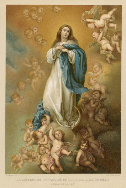 Mother of Jesus, depicted as the Immaculate Conception, surrounded by putti
