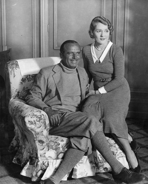 Mary Pickford (1892-1971) Canadian actress known as America's Sweetheart, Little Mary and the girl with the curls with husband Douglas Fairbanks Senior (1883-1939) American actor (Mary was his second wife)