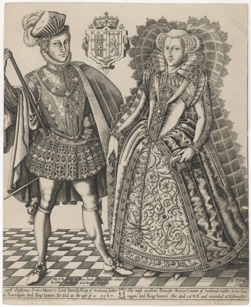 MARY, QUEEN OF SCOTS with her husband, Henry Stewart, Lord Darnley (1545-67)