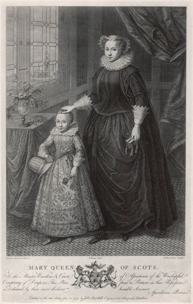 MARY, QUEEN OF SCOTS with her son (later James VI of Scotland and James I of England)