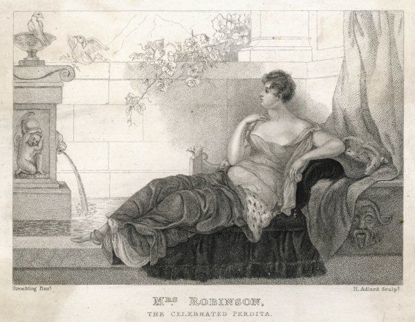 MARY ROBINSON actress, mistress of George IV 'The celebrated Perdita&#39