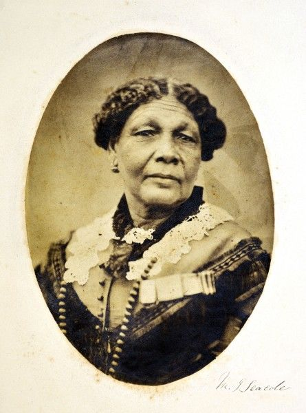 Mary Jane Seacole (1805-1881), Jamaican born British Crimean War nurse, portrait. Also known as Mother Seacole
