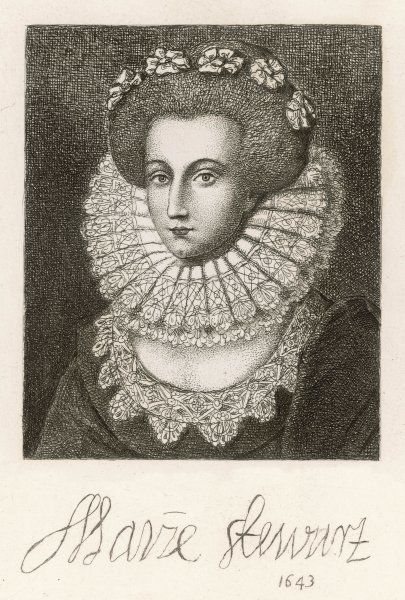 MARY STEWART, countess of MAR wife of John Erskine, 2nd (or 7th) earl, lord treasurer of Scotland