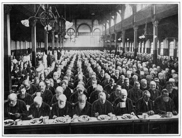 London : dinner time at Marylebone Workhouse