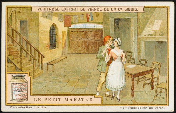 Act three : the Prince, disguised as a revolutionary, with Mariella, who knows his identity and resolves to flee Paris with him