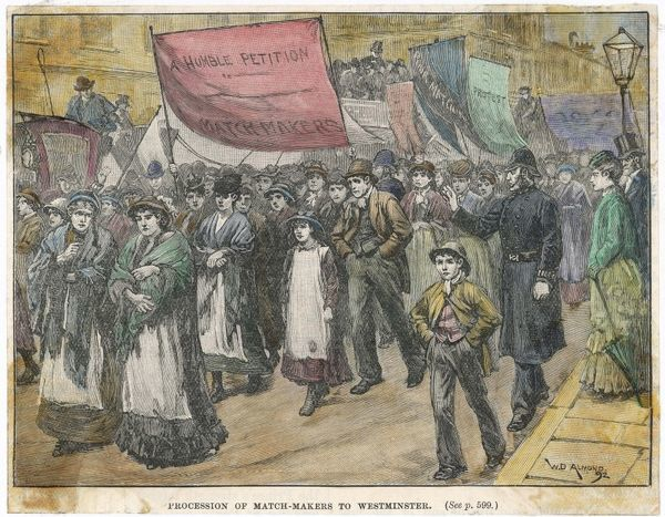THE MATCHMAKERS PROCESSION This demonstration in London against working conditions led to reforms, but also to charges of police brutality
