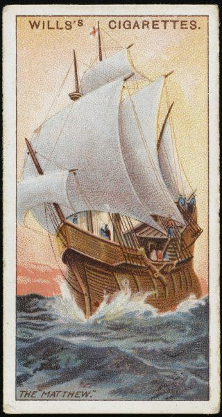 John Cabot set sail in the Matthew from Bristol on 2 May 1497, and discovered Newfoundland the following month