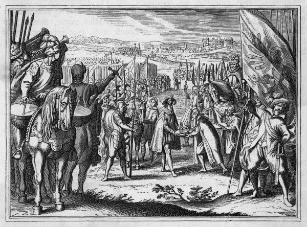 Matthias of Austria is crowned as king Matyas of Hungary as well