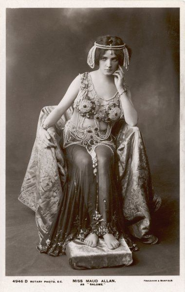 MAUD ALLEN Actress and dancer, as Salome