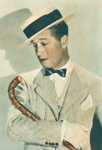 Maurice Chevalier (1894 - 1972) - a French actor, singer, and popular entertainer