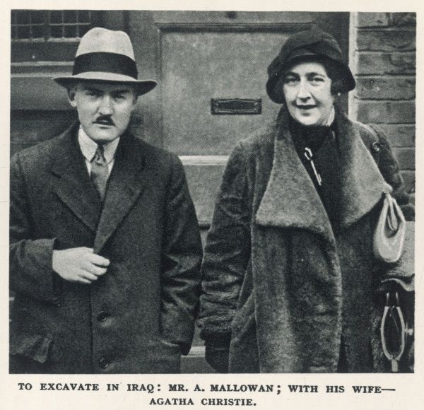 Max Mallowan and his wife, Agatha Christie, in 1933. Mallowan was an archaeologist who began his apprenticeship in field archaeology with Leonard Wooley at Ur, then went on to make excavations for the British Museum at Arpachiyah near Nineveh