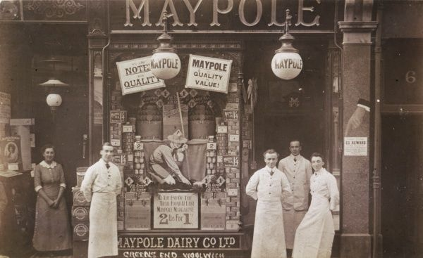 The Maypole Dairy shop in Greens End, Woolwich, London