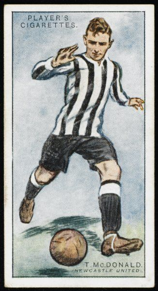 T McDonald, Inside Left for Newcastle United