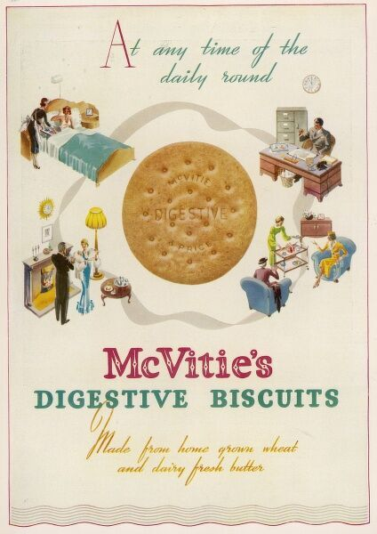 McVitie's digestive biscuits 'At any time of the daily round&#39