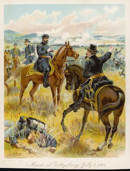 a comparison of general george meade and general lee at the second battle of bull run