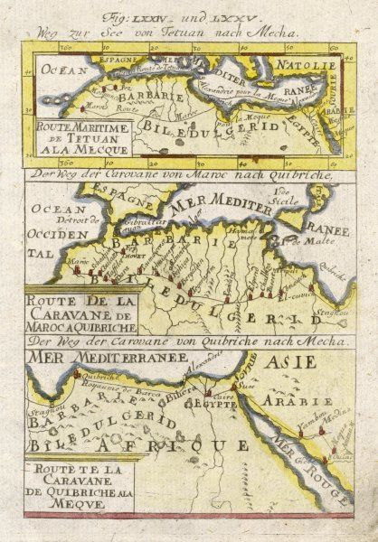 Pilgrim-routes to Mecca from Morocco