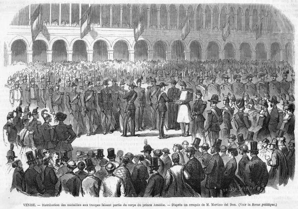 Presentation of medals to Venetian troops