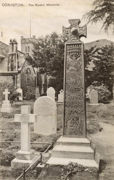 Memorial to John Ruskin - St Andrew's Churchyard, Coniston, Cumbria