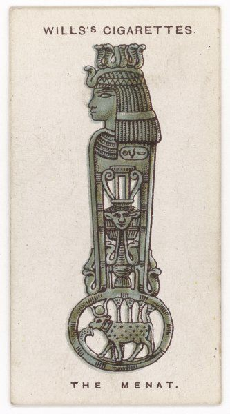 MENAT TALISMAN Incorporating the emblem of Hathor, the goddess of motherhood, this talisman protected ancient Egyptian women