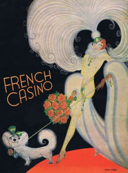 Menu card for the French Casino, New York, 1936 Date: 1936