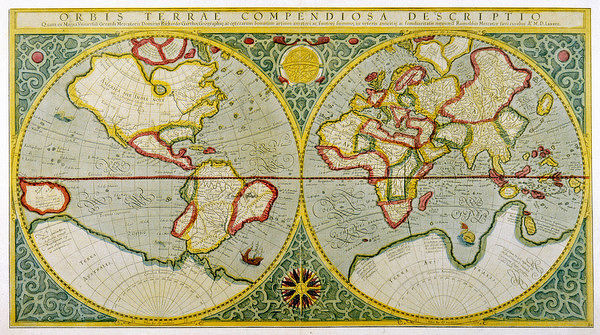 A map of the world by Gerhard Mercator