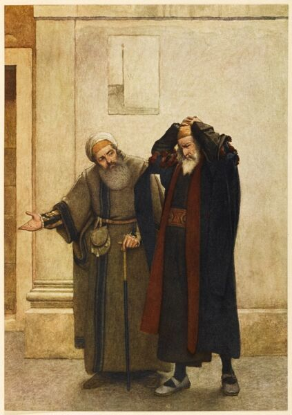 "Act III, Scene i Shylock & his friend, Tubal ""Out upon her. Thou torturest me, Tubal&quot"