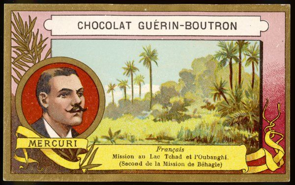 MERCURI French explorer to Lake Tchad and other regions of central Africa