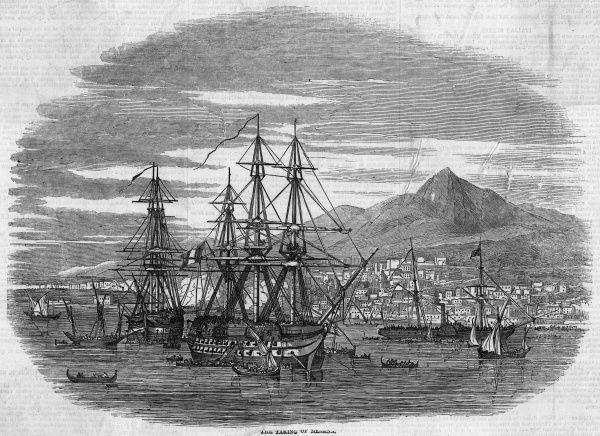 Following a naval bombardment, the port of Messina is invested by the royalist forces of Ferdinando II, king of the Two Sicilies