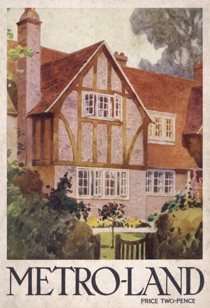 A middle class home on the cover of a guide to the residential area north-west of London