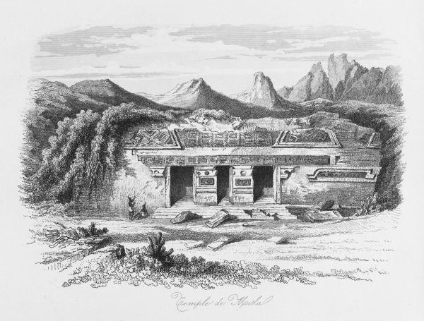 Zapotec temple (plate 1 of 2)
