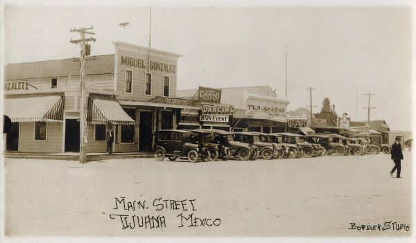 Mexico - Tijuana - Main Street. On the border with the United States