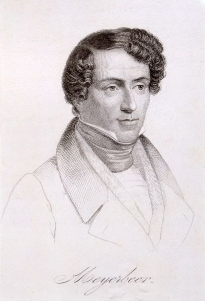 GIACOMO MEYERBEER German composer of Italian operas as a young man