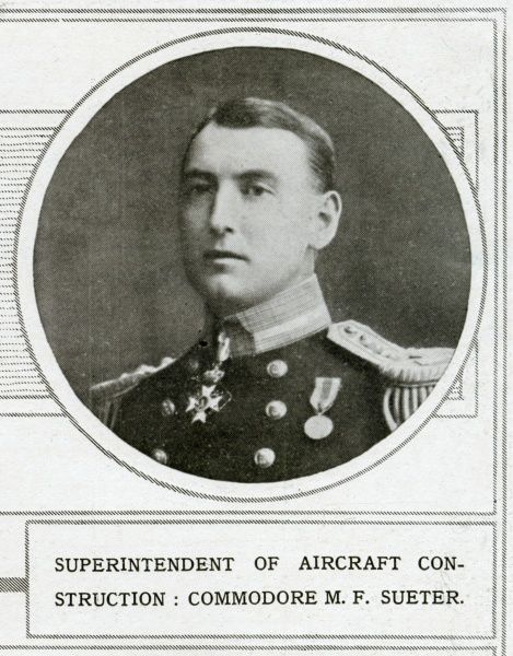 COMMODORE MURRAY FRASER SUETER Royal Navy officer. Shown here during World War One, when he was superintendent of aircraft construction