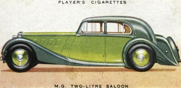 Medium-priced family saloon with sporty performance. Date: 1936