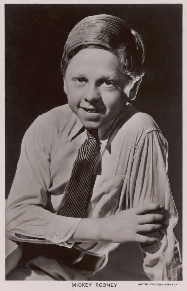 MICKEY ROONEY American actor of stage, screen and TV. His ear is not a deformity, but part of his make-up for A midsummer night's dream