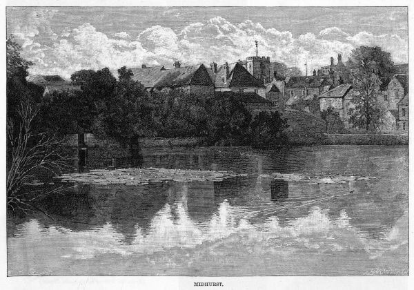 Midhurst, West Sussex, seen from the Rother river