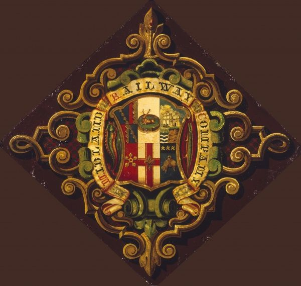 The wonderful decorative Coats of Arms of the Midland Railway Company