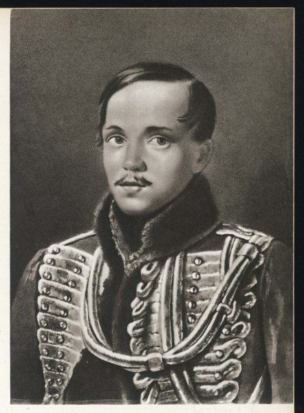 MIKHAIL YUREVICH LERMONTOV Russian writer, depicted wearing the pelisse of the Imperial Hussar Guards Regiment