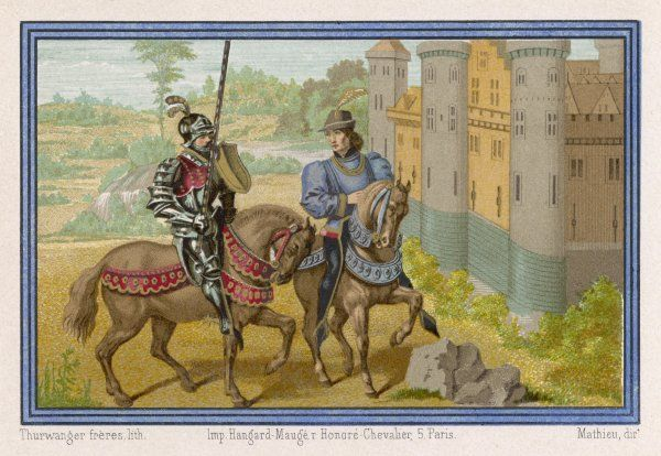 A French knight (Giriart) and a squire